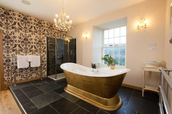 scottish castle master bathroom