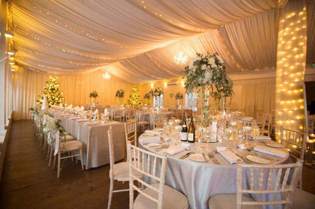 logie ballroom set up for dinner