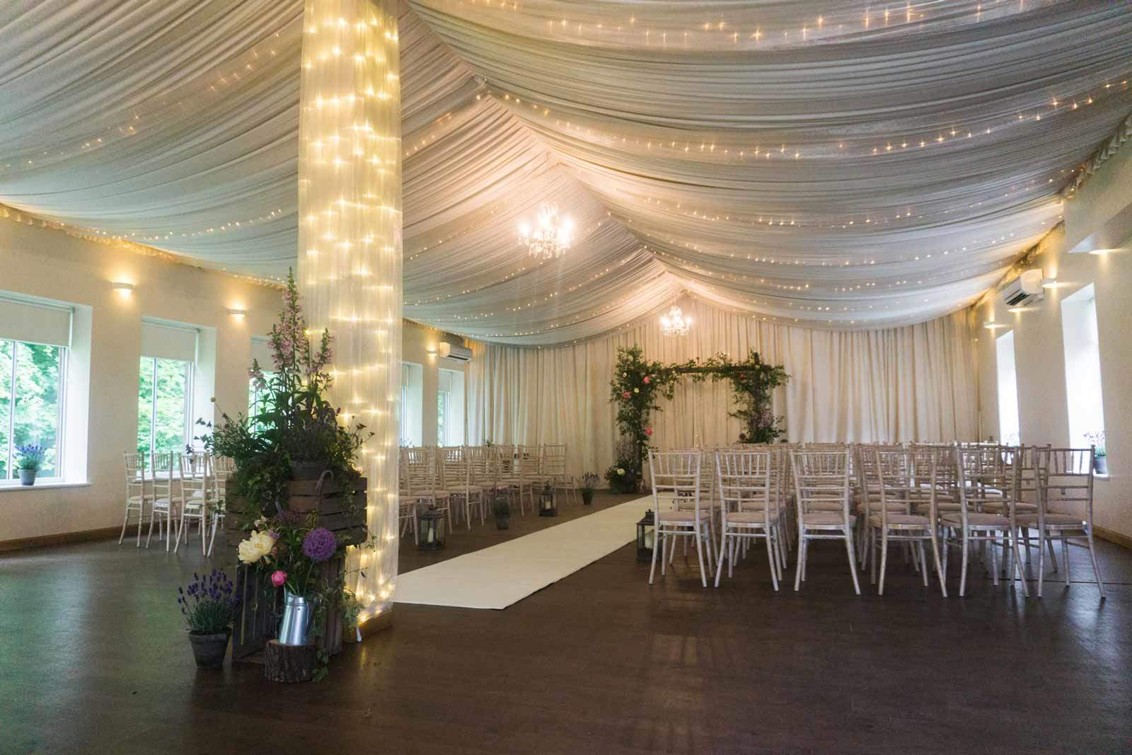 logie house wedding ballroom set up