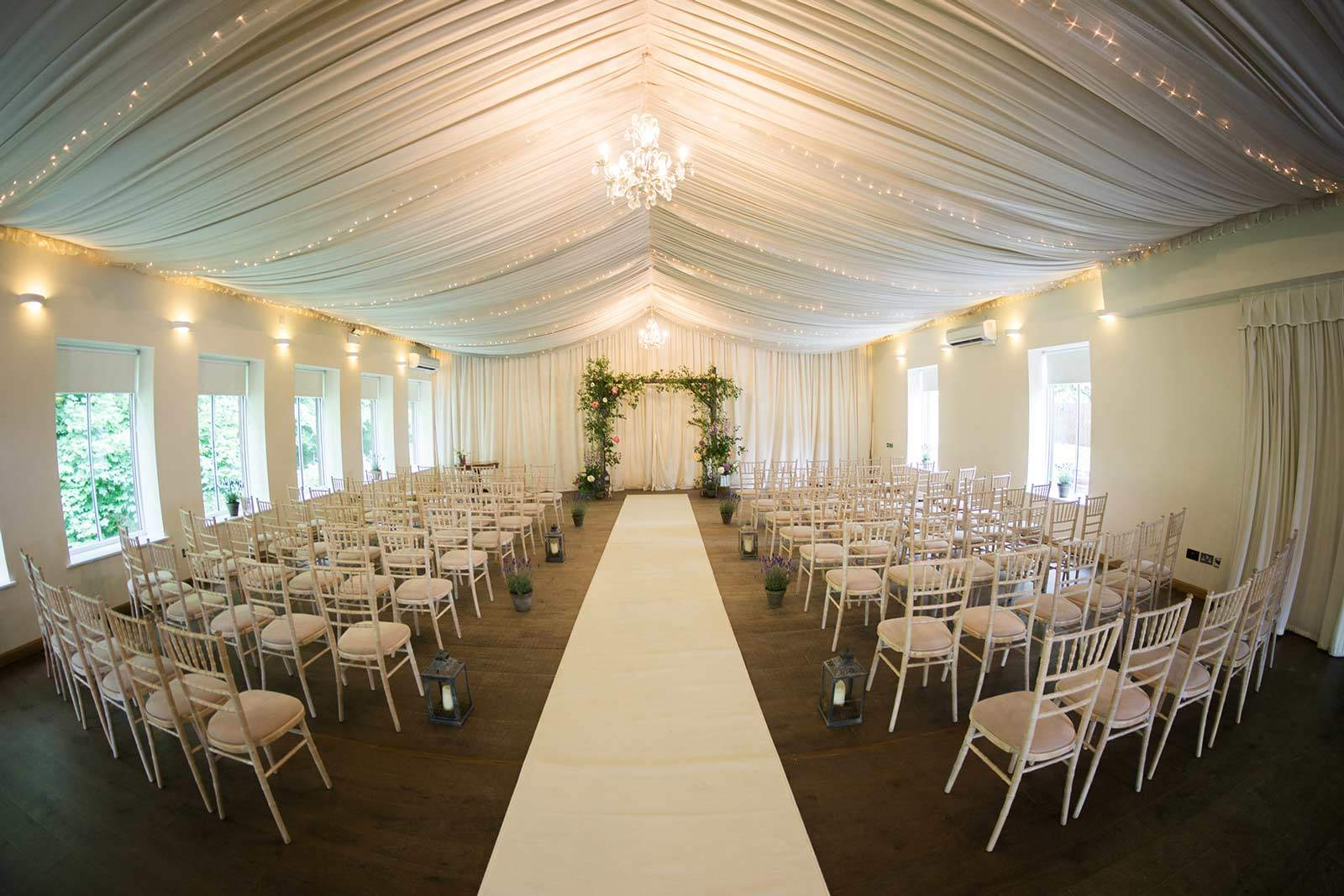 logie house wedding ballroom overview