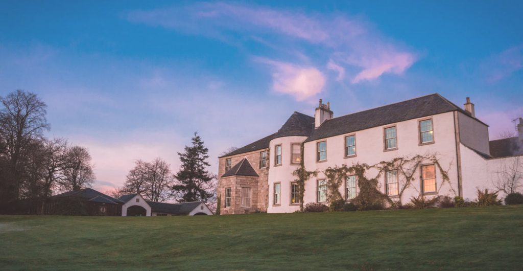 wedding venue sunset logie country house