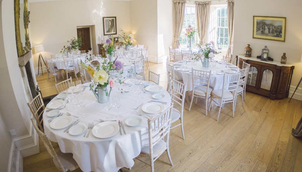 logie house Aberdeenshire wedding dining room