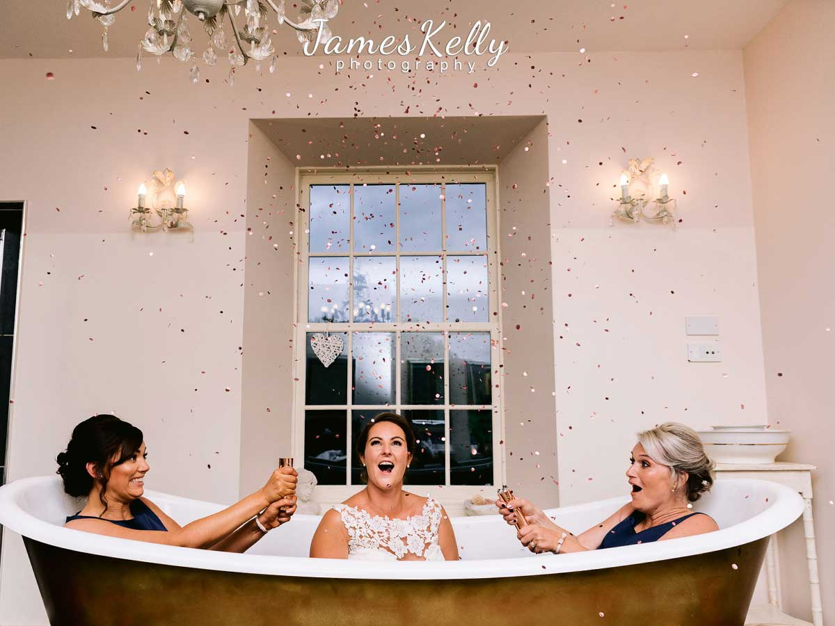 wedding bathroom features logie house